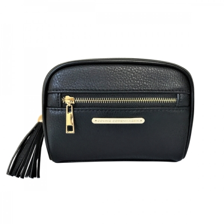 Coming Copenhagen toilettas Emili Black vegan leather Grained klein