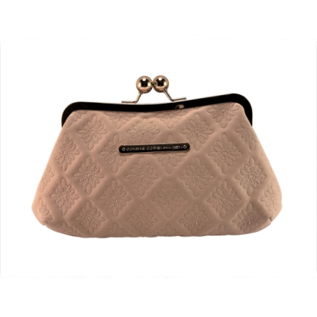 CL20107 Coming Copenhagen Vegan Leather Clutch Misty Blush 20-3-13.5
