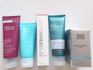 gezichtsmaskers Paula's Choice en Dermaquest