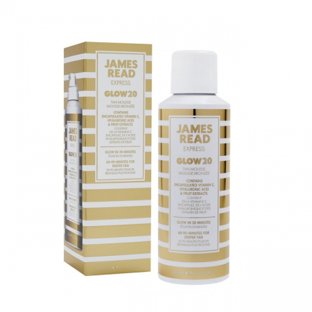 GLOW20 Tan Mousse Carton and Bottle pack shot